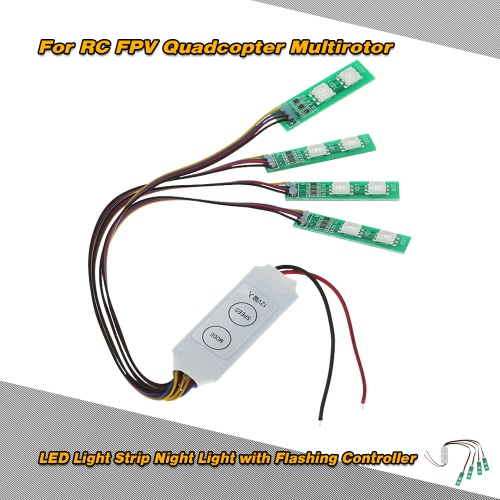 LED Light Strip Night Light with Flashing Controller for RC FPV Quadcopter Multirotor
