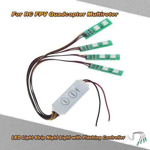 LED Light Strip Night Light z kołnierzem kontroler dla RC FPV Quadcopter Multirotor