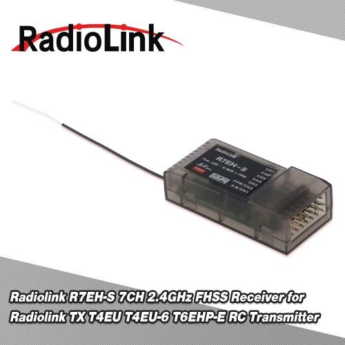 Original Radiolink R7EH-S 7CH 2.4GHz FHSS receptor para transmisor de radioenlace TX T4EU T4EU-6 T6EHP-E RC
