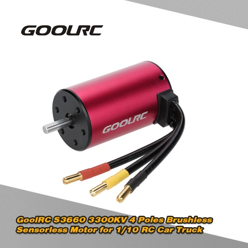 Original GoolRC S3660 3300KV 4 Poles Brushless Sensorless Motor for 1/10 RC Car Truck