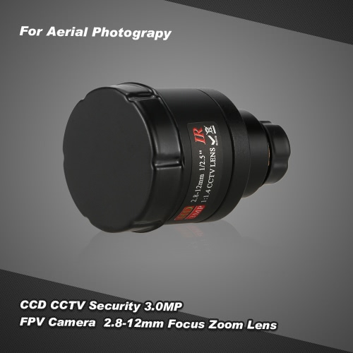 CCD 3.0MP CCTV Security FPV Camera OSD D-WDR 2.8-12mm Focus Zoom Lens for FPV Aerial Photography