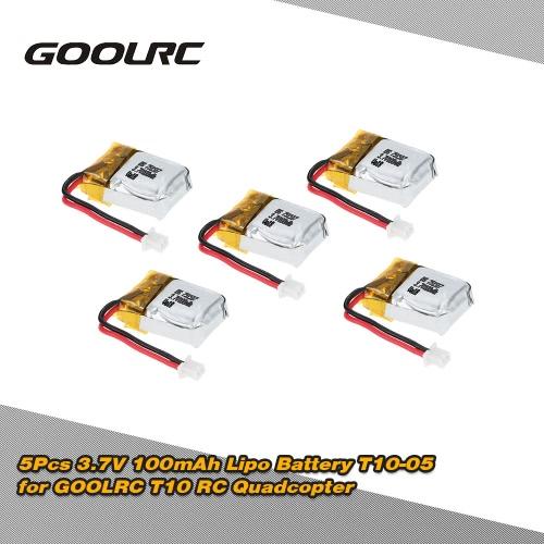 Original GoolRC 5Pcs 3.7V 100mAh Lipo Battery T10-05  RC Part for GoolRC T10 RC Quadcopter