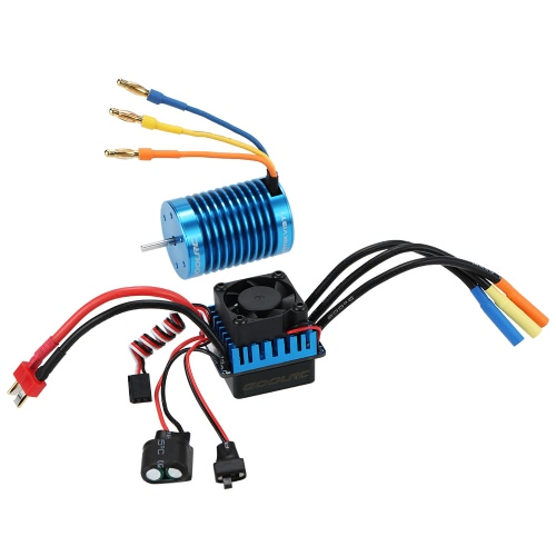 Original GoolRC 3650 4370KV 4P Sensorless Brushless Motor & 45A Brushless ESC para 1/10 Off-Road RC Car