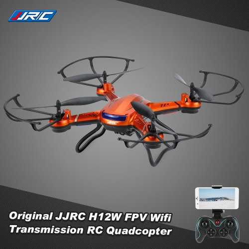 JJRC H12WH 2.4G 4CH 6-axis Gyro 2.0MP HD Camera WiFi FPV Real Time Transmission RC Quadcopter RTF with CF Mode 3D-flip Set-height Mode Function