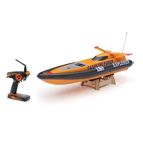 Original VANTEX Explorer 1300GP260 FS-GT2 2.4G Transmitter High Speed 50km/h 26CC Gas Powered RC Racing Boat