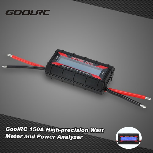 GoolRC 150A High-precision Watt Meter and Power Analyzer with Backlight  LCD