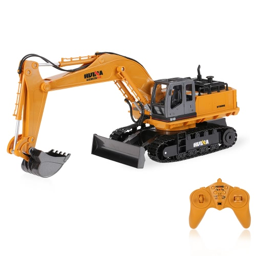 HUI NA TOYS NO.1510 Alloy Engineering Electronic Excavator Heavy Machinery 2.4GHz 11CH RC Toys Car Truck