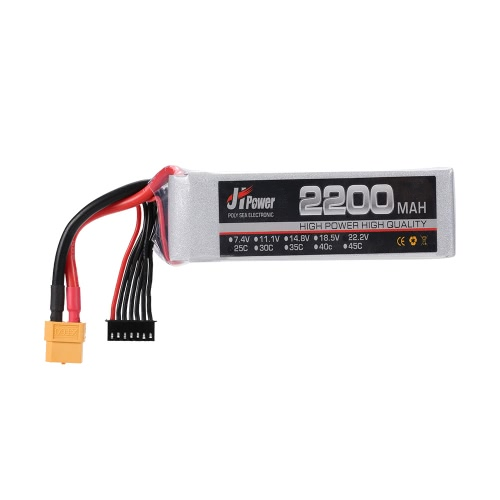JHpower 22.2V 2200mAh 25C 6S LiPo Batterie avec XT60 Plug pour RC 550 Multirotor Quadcopter Drone Car Boat Airplane Helicopter