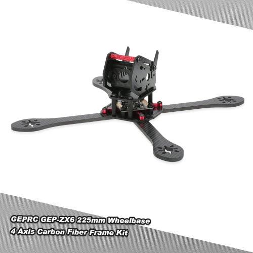 Originale GEPRC GEP-ZX6 225 millimetri Passo FPV fibra di carbonio Quadcopter Telaio con Kit PDB per 225 millimetri di corsa Drone