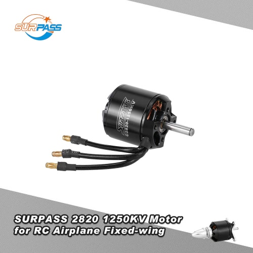 Original SURPASS High Performance 2820 1250KV 14 Poles Brushless Motor for RC Airplane Fixed-wing
