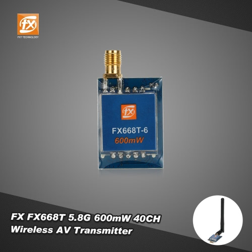 Original FX FX668T 600mW 5.8G 40CH Wireless AV Transmitter for RC Drone FPV Real Time Transmission