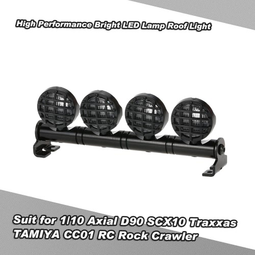 High Performance luminosa della lampada LED del tetto della luce Luce di ricerca per 1/10 HSP TAMIYA RC4WD Axial SCX10 D90 Traxxas TAMIYA CC01 RC Rock Crawler