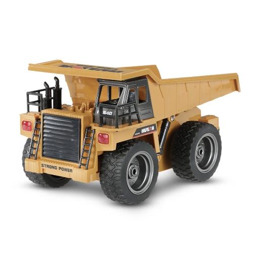Huina JOUETS NO.1540 2.4G 6CH Version alliage Camion-benne Construction Engineering Véhicule jouet cadeau