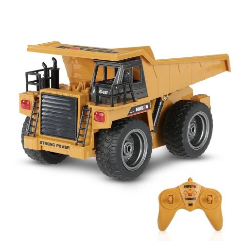 HUI NA GIOCATTOLI NO.1540 2.4G 6CH Lega Dump Truck Costruzione del veicolo di costruzione del regalo del giocattolo