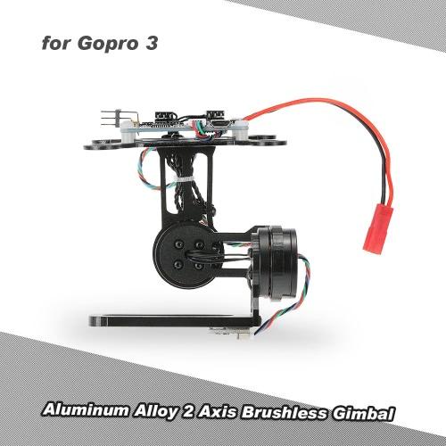 アルミニウム合金のGoPro 3 4 DJI F450 F550 Cheerson CX-20空中写真用BGC2.2コントロールパネルとの2軸ブラシレスジンバル