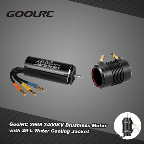 Original GoolRC 2968 3400KV Brushless Motor and 29-L Water Cooling Jacket Combo Set for 600-800mm RC Boat