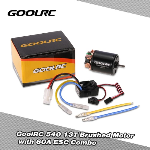 GoolRC 540 13T Brushed Motor with 60A ESC Combo for 1/10 Traxxas Ford F-150 RC Car