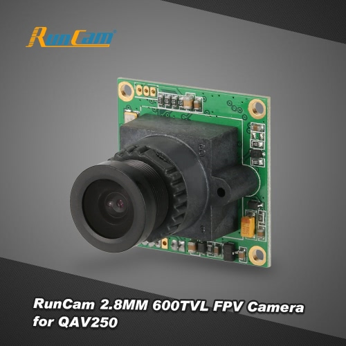 RunCam PZ0420M 2.8MM 600TVL Wide Voltage CCD FPV Camera NTSC System with OSD Control for QAV250 Racer 250 FPV Racing Quadcopter