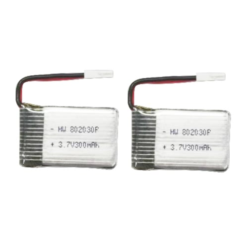 2pcs Original FQ777 FQ17-04 3.7V 300mAh Li-po Battery for FQ17W RC FPV Drone Quadcopter