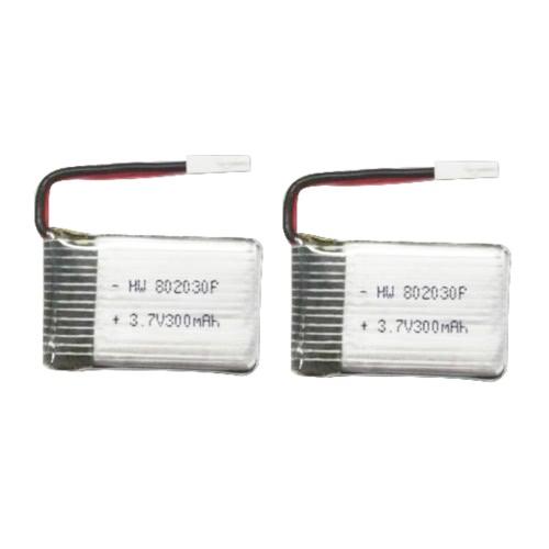 FQ17W RC FPVドローンクワッドローターのための2個オリジナルFQ777 FQ17-04 3.7V 300mAhのLi-Poバッテリー