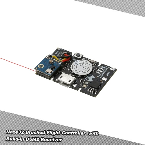 Naze32 Pinsel Flight-Controller eingebaute Empfänger 33mm * 20mm für Q100 X100 DIY Mikro FPV Racing Quadcopter