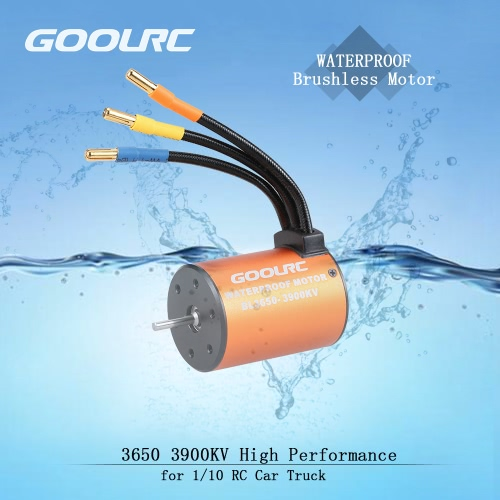 GoolRC 3650 3900KV Waterproof Brushless Motor for 1/10 RC Car HSP 94123 HuanQi 727 FS Racing 53625/53632