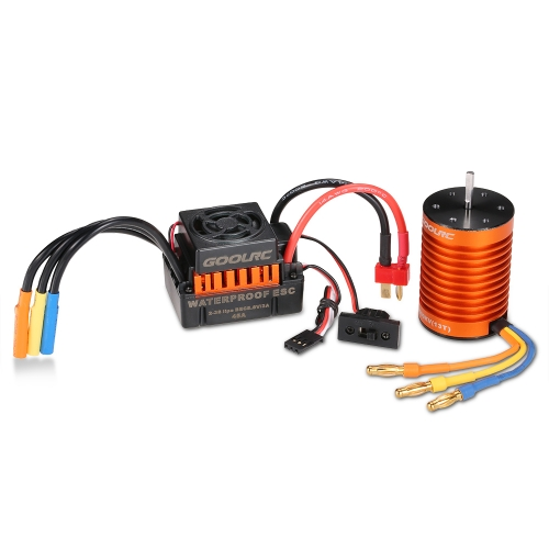 GoolRC Upgrade Waterproof F540 3000KV Motor Brushless com 45A ESC Combo Set para 1/10 RC Car Truck