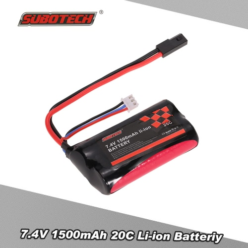 SUBOTECH 7.4V 1500mAh 20C Li-ion Battery for SUBOTECH BG1506 BG1507 BG1513 RC Car