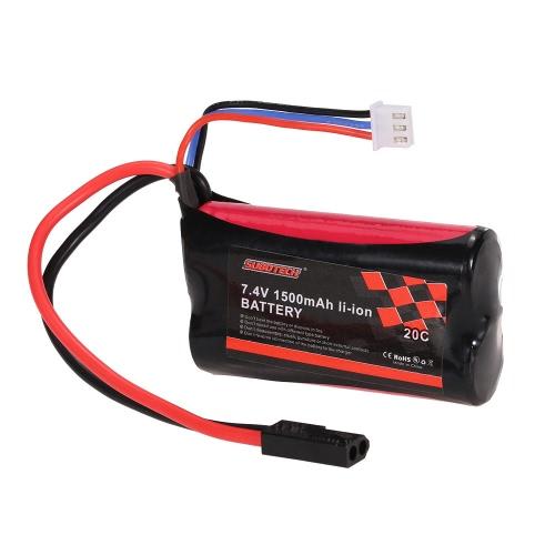 Batterie Li-ion SUBOTECH 7.4V 1500mAh 20C pour SUBOTECH BG1506 BG1507 BG1513 RC Car