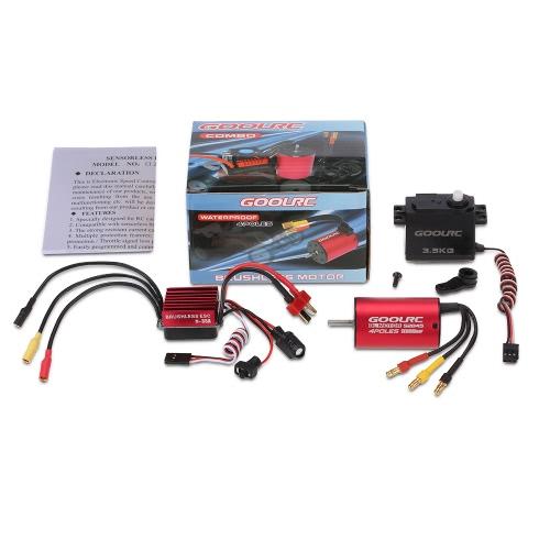 GoolRC S2845 3900KV bezszczotkowy silnik 35A ESC 3,5 kg Serwo Combo zestaw dla 1/12 1/14 RC samochód