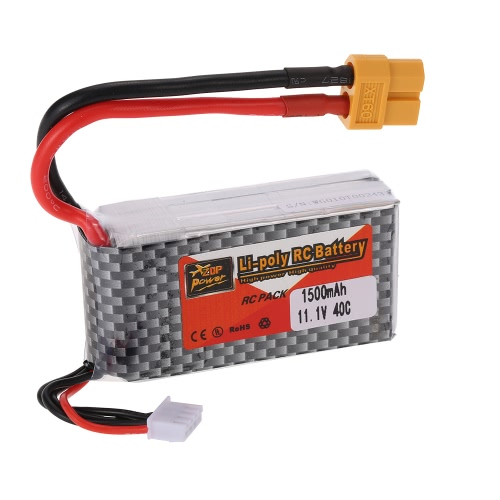 ZOP電源3S 11.1V 1500mAh 40A XT60プラグLiPoバッテリーQAV250 H210 LS180 FPVレーシングクアドコプターRCカーボート