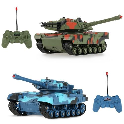 CRAZON 333-TK11A 1/24 Skala Zwei Infrarot Fernbedienung Kampf Panzer Spielzeug für Kinder