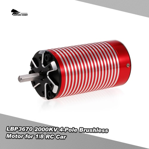 LEOPARD HOBBY LBP3670 2000KV 4-Pole Brushless Motor for 1/8 Traxxas HSP Redcat RC4WD Tamiya Axial HPI RC Car