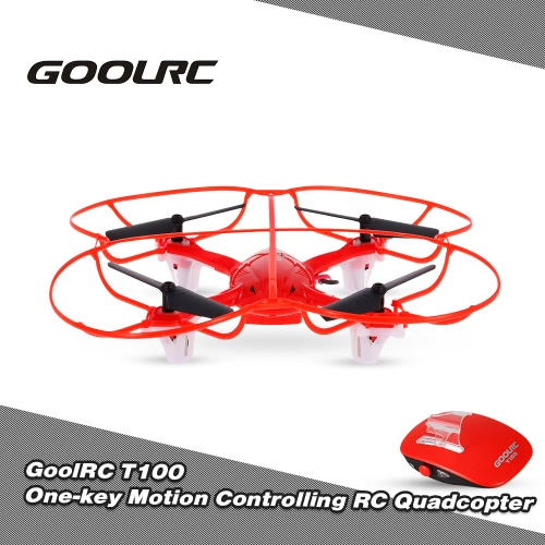 GoolRC T100 2.4GHz Remote Control One-key Motion Controlling Drone RC Quadcopter with 360° Flip Function