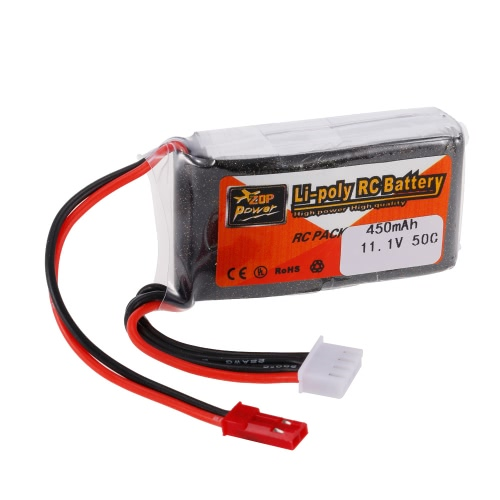 ZOP Power 3S 11.1V 450mAh 50C LiPo Battery JST Plug