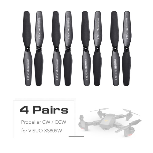 4 Pairs Propeller CW/CCW for VISUO XS809W XS809HW FPV Quadcopter