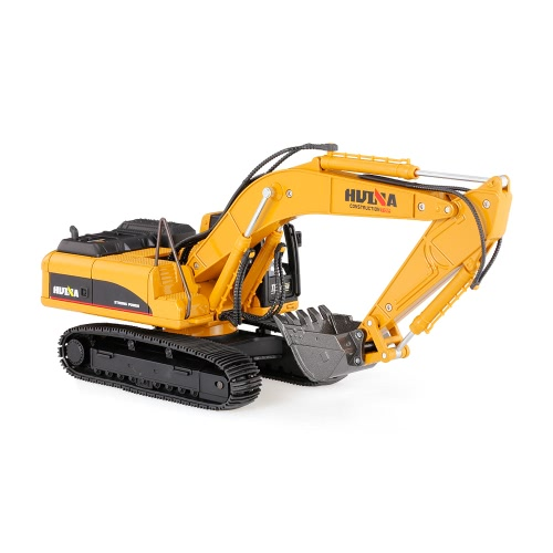 HUI NA TOYS 1910 1/40 Excavator Engineering Vehicle with Alloy Digging Head Kids Toy Gift Housing Decoration   Collection