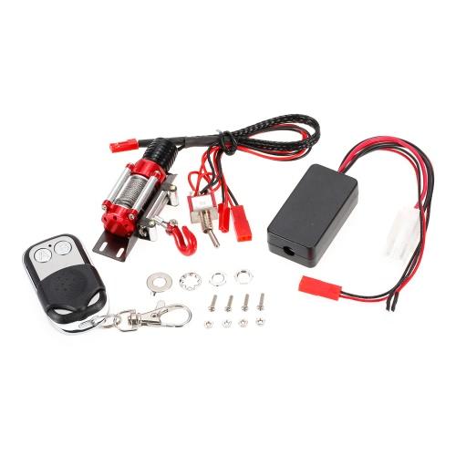 Acero metálico atado con alambre Winch automático simulado con el regulador alejado para 1/10 CC01 Axial SCX10 RC4WD Rastreador de la roca de D90 RC