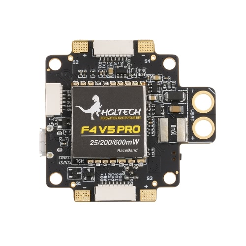 HGLRC XJB F4 V5PRO Flight Controller with 5.8G Transmitter OSD 5V BEC PDB for FPV RC Racing Drone