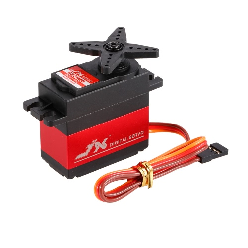 JX PDI-6221MG Metal Gear 4.8V-6V 0.16sec / 60 ° Digital Servo 20.3kg Torque Aluminium Case para carro 1/10 1/8 RC