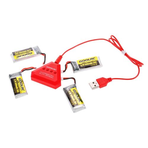 Batteria 4pcs GoolRC 3.7V 500mAh 20C Li-po