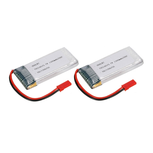 2pcs GoolRC 3.7V 1200mAh 25C JST Plug LiPo Battery for Walkera WKLIPO-5#10 5G4Q3 SYMA S006