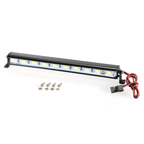 Metal Roof Lamp LED Light Bar for 1/10 RC Crawler Traxxas Trx-4 SCX10 90027 SCX10 II 90046 RC4WD D90 Car