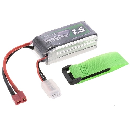 11.1V 1500mAh 30C 3S Rechargeable Li-Po Battery with T Plug for RC Racing Drone Quadcopter Helicopter Airplane Car Truck