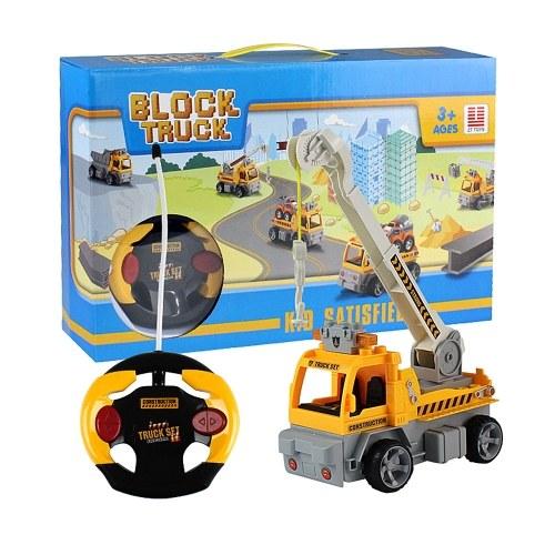 19 Stücke DIY Bausteine Auto 1/18 Infrarot Fernbedienung RC Auto Kran Spielzeug Weihnachtsgeschenk Geschenk für Kinder