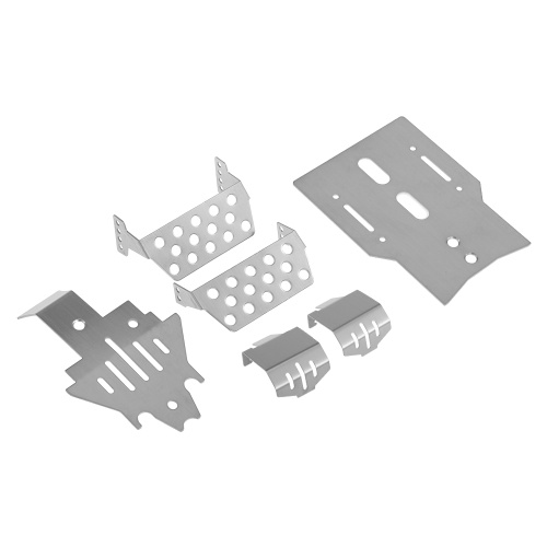 6PCS Axle Protective Guard Skid Plate Bumper Chassis Guard