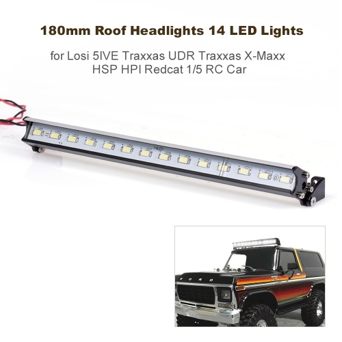 180mm Roof Headlights RC Off-Road Dome 14 LED Lights for Losi 5IVE Traxxas UDR Traxxas X-Maxx HSP HPI Redcat 1/5 RC Car