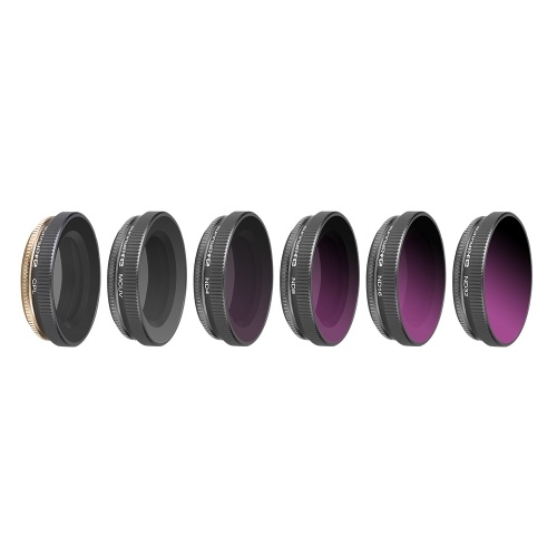 6pcs Lens Filter Camera Filter (ND4, ND8, ND16, ND32, CPL, MCUV) for DJI Osmo Action Camera