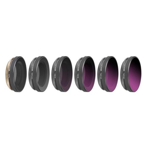 Фильтр камеры фильтра объектива 6шт (ND4, ND8, ND16, ND32, CPL, MCUV) для камеры действия DJI Osmo
