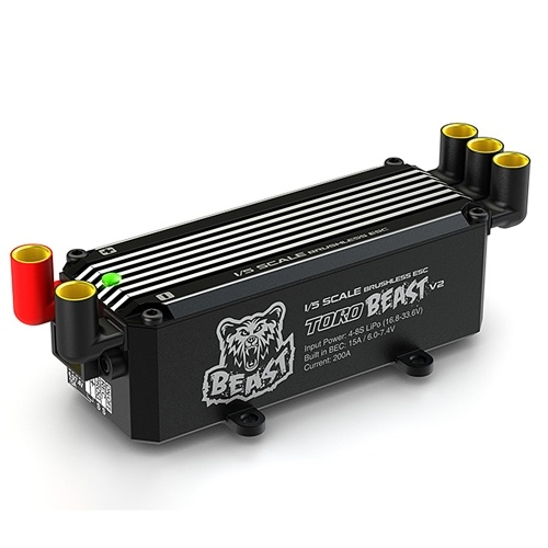SKYRC TORO BEAST V2 200A Brushless ESC 8S Programmierbares Biult-in BEC für 1/5 RC Off Road Car